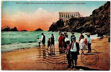2083 On the Ocean Beach Below Cliff House San Francisco CA Vintage Postcard 1910