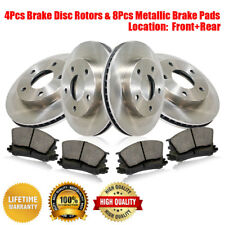Front + Rear Brake Rotors & Metallic Pads Fits Land Rover Range Rover 1995