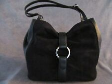 MICHAEL KORS 30F6AQYE3S Quincy Large Shoulder Suede Leather Handbag Purse NWT
