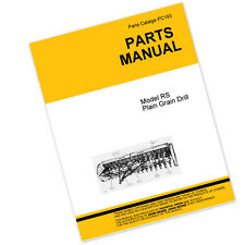 PARTS MANUAL FOR JOHN DEERE RS PLAIN GRAIN DRILL PLANTER CATALOG SEED GRAIN