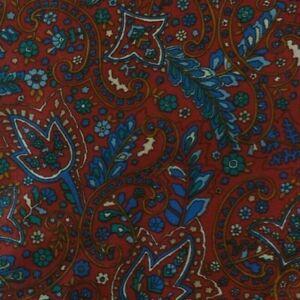 Burgundy Paisley Silk  Blend Ascot Cravat