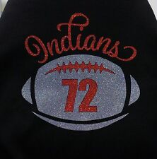 Football Shirt - Custom Glitter Football Shirt with Player Number Indians Shown