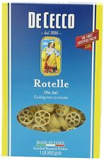 DeCecco Rotelle (pinwheel) Pasta, 16 Oz (Pack of 8)