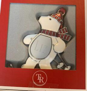 "Things Remembered Polar Bear Ornament Belly Engraved ""Liz"""
