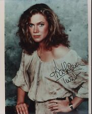 Kathleen Turner. Authentic signed color 8x10 photograph. Romancing The Stone!
