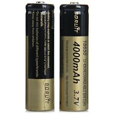 2 x Borruit 18650 -4000mAh 3.7V Rechargeable Lithium - Ion Battery.._