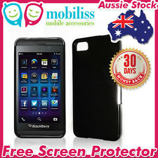 Dark Grey TPU Gel Jelly Case Cover for Blackberry Z10 Screen Protector