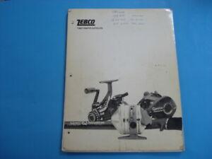 ZEBCO Fishing  Reels Complete 1987 Parts Catalog, 123 Pages plus Original Covers
