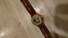 Relic womens watch Woman Fossil Brand Leather Gold  Marbel Wave Face