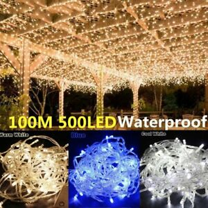 10/20/30/100/200M Electronic / Battery Operated Fairy String Lights Waterproof