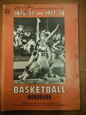 1976-78 National Federation Edition Basketball Hand Book State High School1229SM