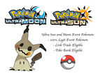 Pokemon Ultra Sun and Moon Halloween Time Shiny Mimikyu Japan Event Pokemon