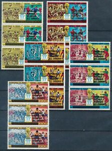[P16077] Comoros 1979 : Soccer - 3x Good Set Very Fine MNH Stamps in Strips