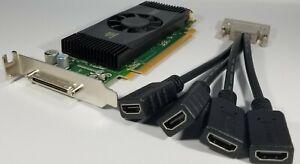 NVIDIA Quadro NVS 420 VHDCI 4X HDMI Multiple Monitors Windows 10 SFF Video Card