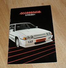 Citroen Accessories Brochure 1985