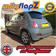 Rally Mudflaps to fit FIAT 500 Mud Flaps rallyflapZ Black '500' Red Logo 3mm PVC