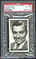 1947 Kwatta Film Stars Card #86 CLARK GABLE Gone With The Wind PSA 4 Rare!!