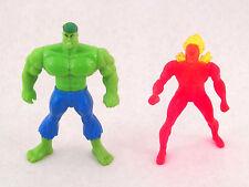 1996 McDonalds Incredible Hulk and The Flash Marvel Super Hero Figures Avengers