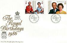 Jersey 1986 Royal Birthdays unaddressed FDC