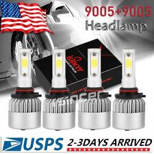 9006 9005 Hi Low Beam COB LED Headlight for Honda Accord 1990-2012 Civic 2004-15