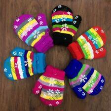 Children Warm Mitten Full Finger Kids Knitted Gloves Christmas Gift