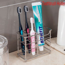 Toothbrush Holder Toothpaste Stand Rack Bathroom Organizer Stainless Steel New