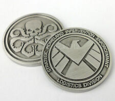 Agents of shield Badge Hydra Coin SHIELD Coin Metal Double 32mm