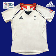 ADIDAS TEAM GB ISSUE RIO OLYMPICS 2016 ELITE ATHLETE EVENT T-SHIRT Size 8