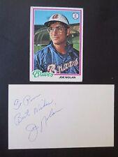 "Joe Nolan, Autograph on a 3"" x 5"" index card, with Baseball card, Catcher"