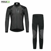 Winter Men's Cycling Clothing Long Sleeve Cycle Jersey Pants Set Thermal Suit