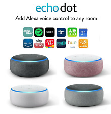 Amazon Echo Dot 3rd Generation Alexa Speaker Charcoal HeatherGrey Sandstone Plum