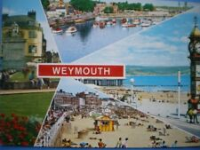 POSTCARD DORSET WEYMOUTH - POPULAR SITES - SUMMER TIME - MULTI VIEW