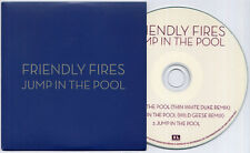 FRIENDLY FIRES Jump In The Pool Remixes 2009 UK 3-track promo test CD