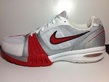 Nike Air Size 11 Edge Trainer/WHITE/Sport RED-MET-SLVR-BLK