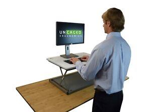 Adjustable Standing Desk Mini Converter Single Monitor Desktop Computer