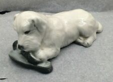 More details for very rare branksome china dog chewing slippers figurine made in england su1297