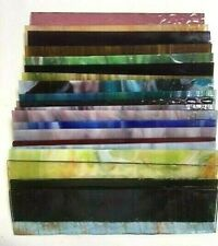 8X2 (20 Pieces) Mixed Color Stained Glass Sheets, Mosaic Tile Panels