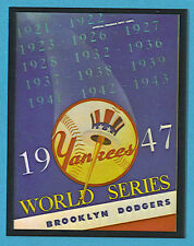 World Series Program Cover Card 1947 Dodgers/Yankees