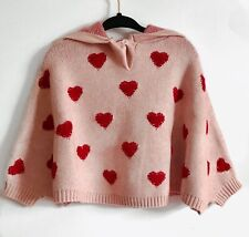 Baby Girl Heart Poncho Sweater