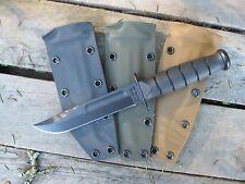 Valhalla Custom Kydex Sheath Ka-Bar 1256 Short Kabar OD GREEN SHEATH ONLY