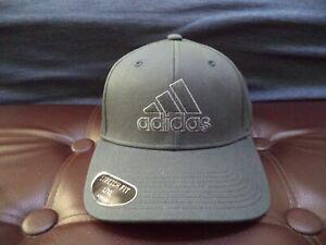 NEW MEN'S GRAY ADIDAS PRODUCER STRETCH FIT L/XL AEROREADY FLEX BALL CAP GREY HAT