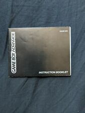 Gameboy Advance Instruction Booklet **MANUAL ONLY**