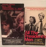 All the President's Men 1976 film (VHS and Movie Tie-in Paperback)