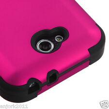 LG OPTIMUS L90 D415 TMOBILE METRO HYBRID T ARMOR CASE SKIN COVER HOT PINK