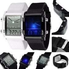 LED Calendar Time,Day,Date Digital & Analog Display Wrist watch Men,Ladies