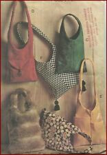 1960s Vintage Mod Sling Shoulder Bag Purse 6 Views Sewing Pattern McCall's 8722
