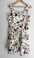 CUE Amazing KBC Printed Fluted Hem Floral Dress Size 14 BNWT $310