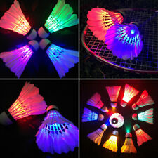 Dark Night Colorful LED Badminton Shuttlecocks Lighting Feather Sport Badm YAR