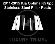 For Kia Optima Stainless Steel Chrome Pillar Posts by Luxury Trims 2011-2015 6pc