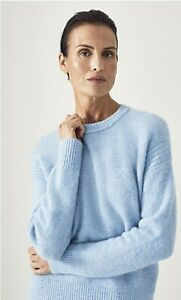 BNWT TRENERY WOOL KNIT JUMPER [M 12] CHAMBRAY BLUE PULLOVER, RP$179 Country Road